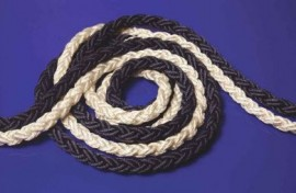 Nylon Multiplait Rope / Anchor 8 Plait White