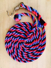 Horse Lead Rope, made up with brass snap Q release